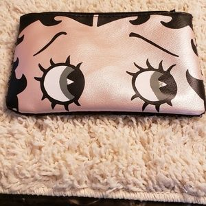 Cosmetics Bag in rose gold and black